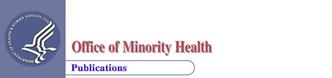 HHS logo, and OMH and Publications title image