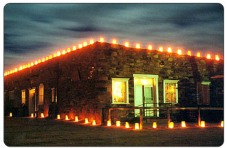 Decorated for the Holiday Season: Hubbell Trading Post National Historic Site in Ganado, Arizona.